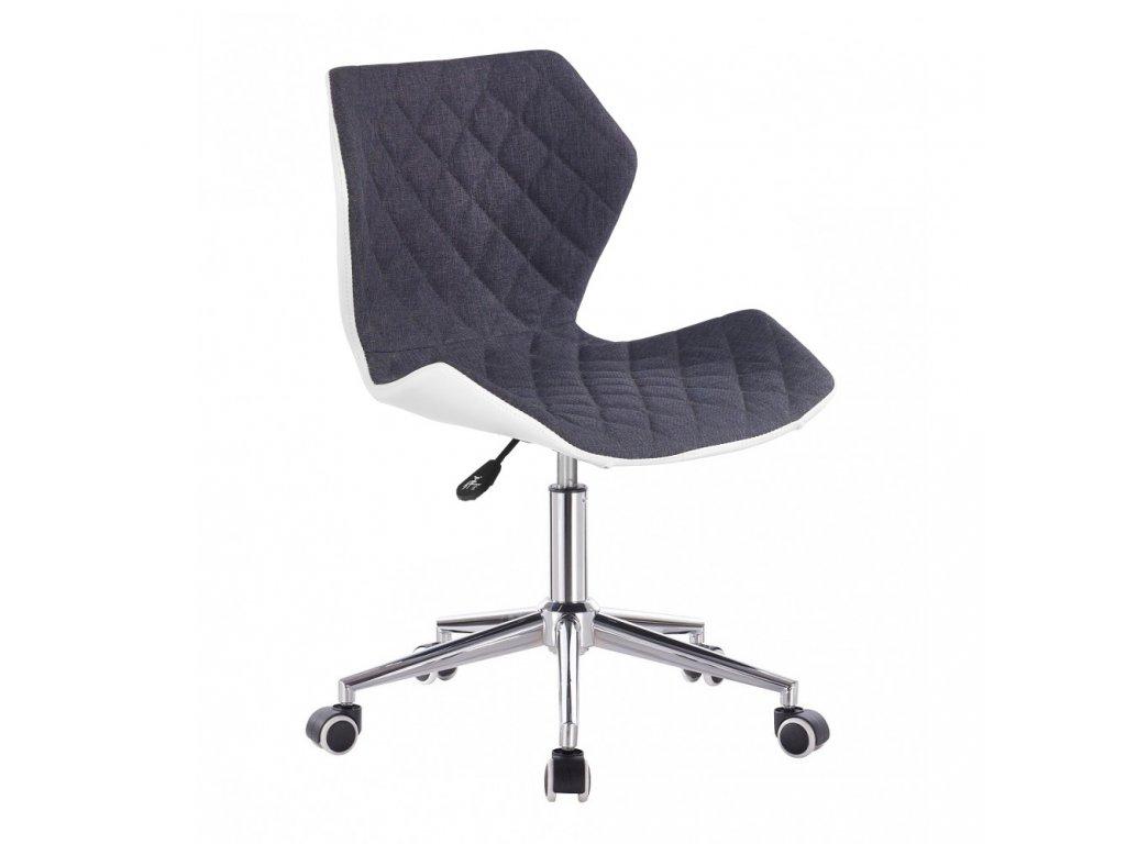 Židle MATRIX na stříbrné kolečkové podstavě - šedá