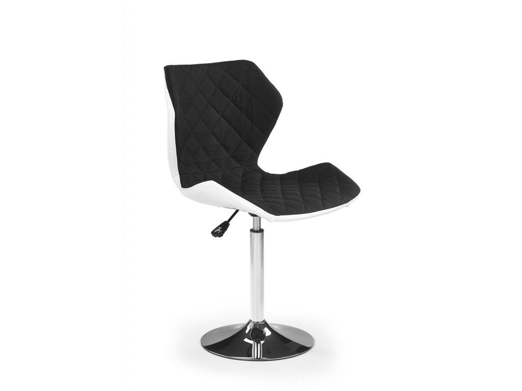 Židle MATRIX na kulaté podstavě - černá
