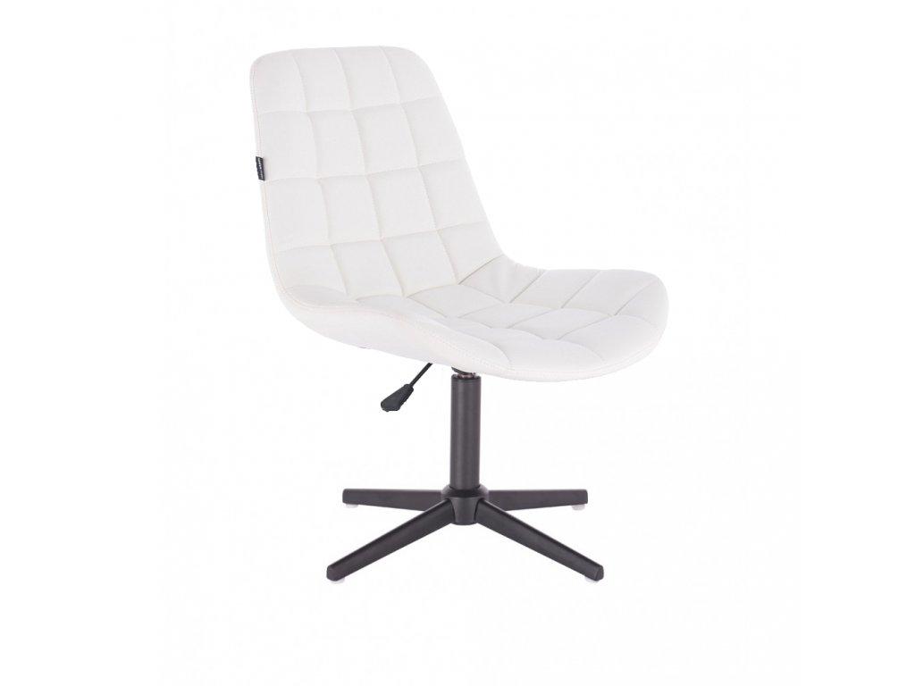 Židle PARIS na černé křížové podstavě - bílá