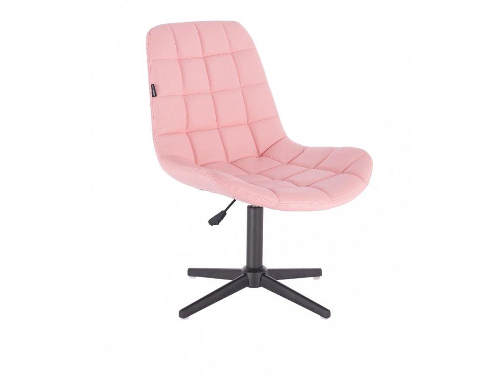 Židle PARIS na černé křížové podstavě - růžová