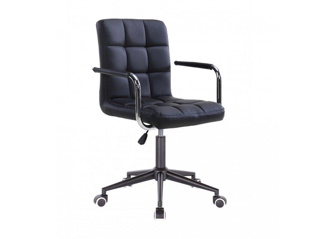 Židle na černé kolečkové podstavě VERONA - černá