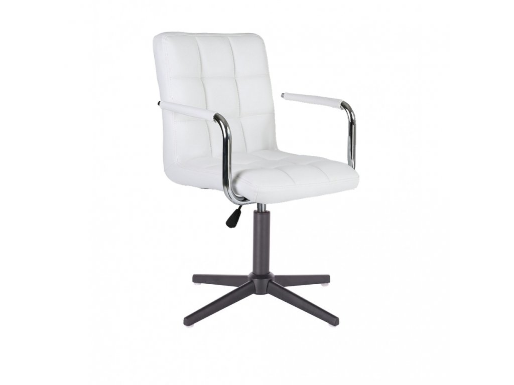 Židle VERONA na černé křížové podstavě - bílá