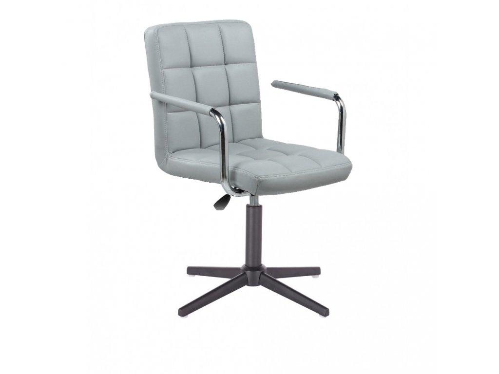 Židle VERONA na černé křížové podstavě - šedá