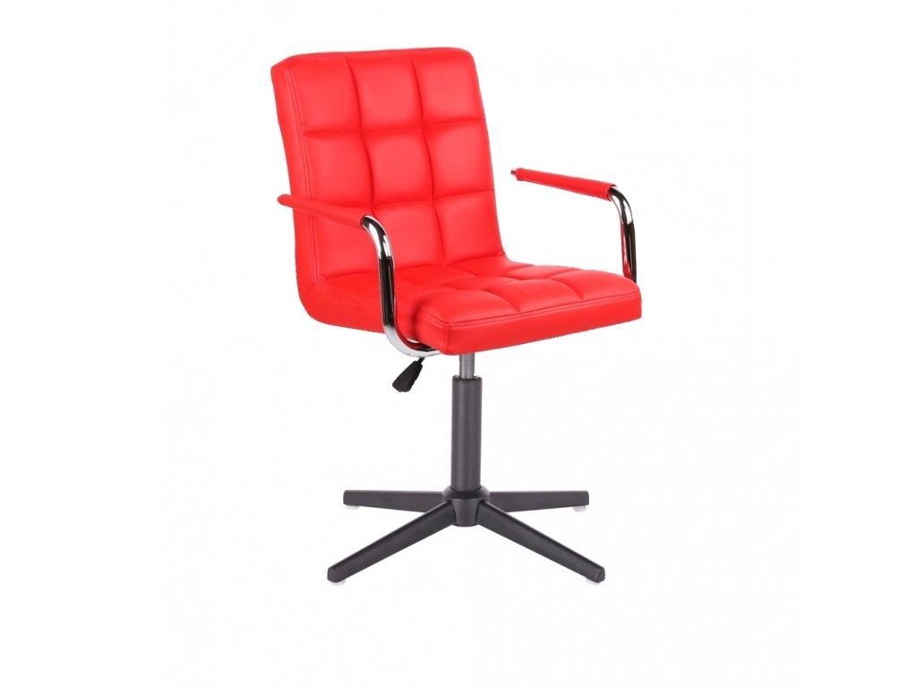 Židle VERONA na černé křížové podstavě - červená