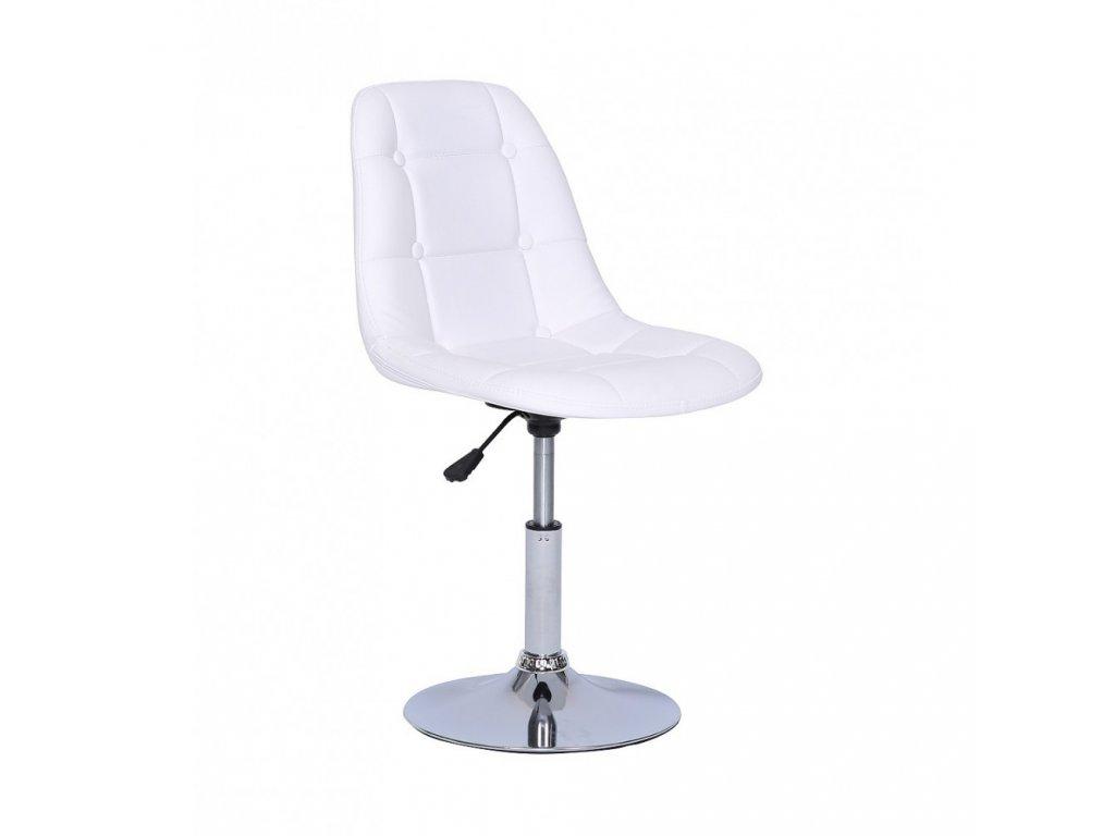 Židle na kulaté podstavě LAGOS - bílá