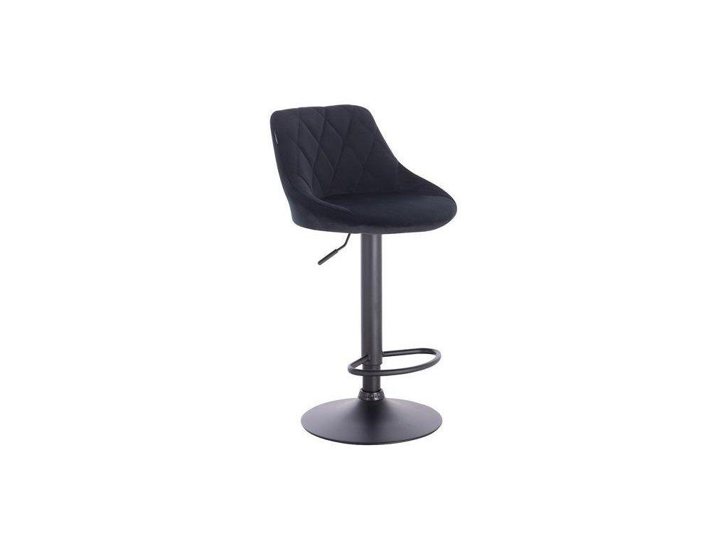 Barová židle SALVADOR - černá na černé podstavě