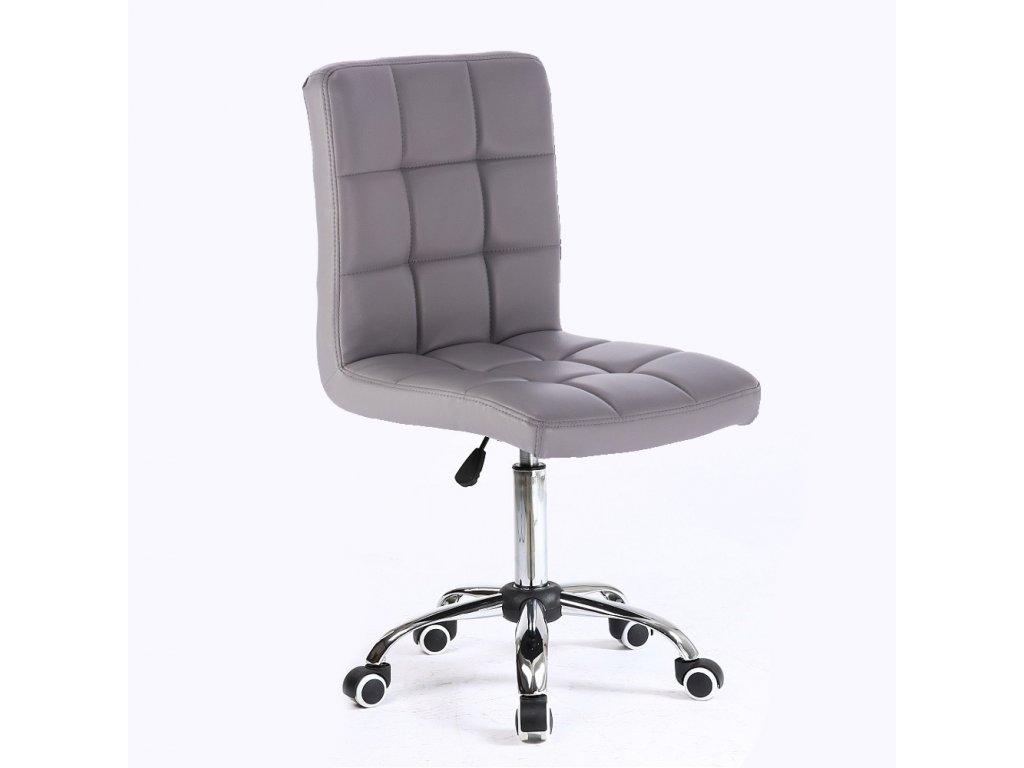 Židle na kolečkách TOLEDO - šedá