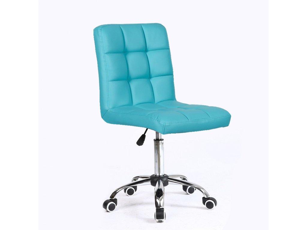 Židle na kolečkách TOLEDO - tyrkysová