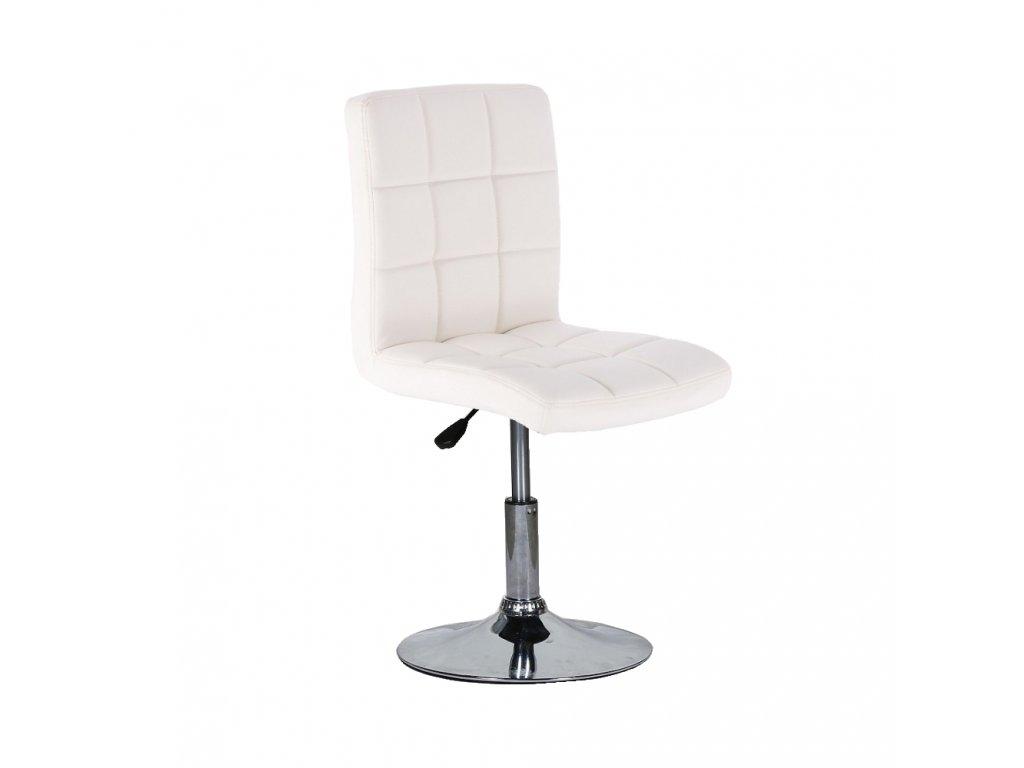 Židle na kulaté podstavě TOLEDO - bílá
