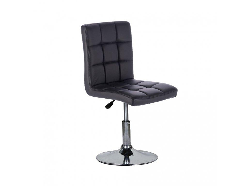 Židle na kulaté podstavě TOLEDO - černá