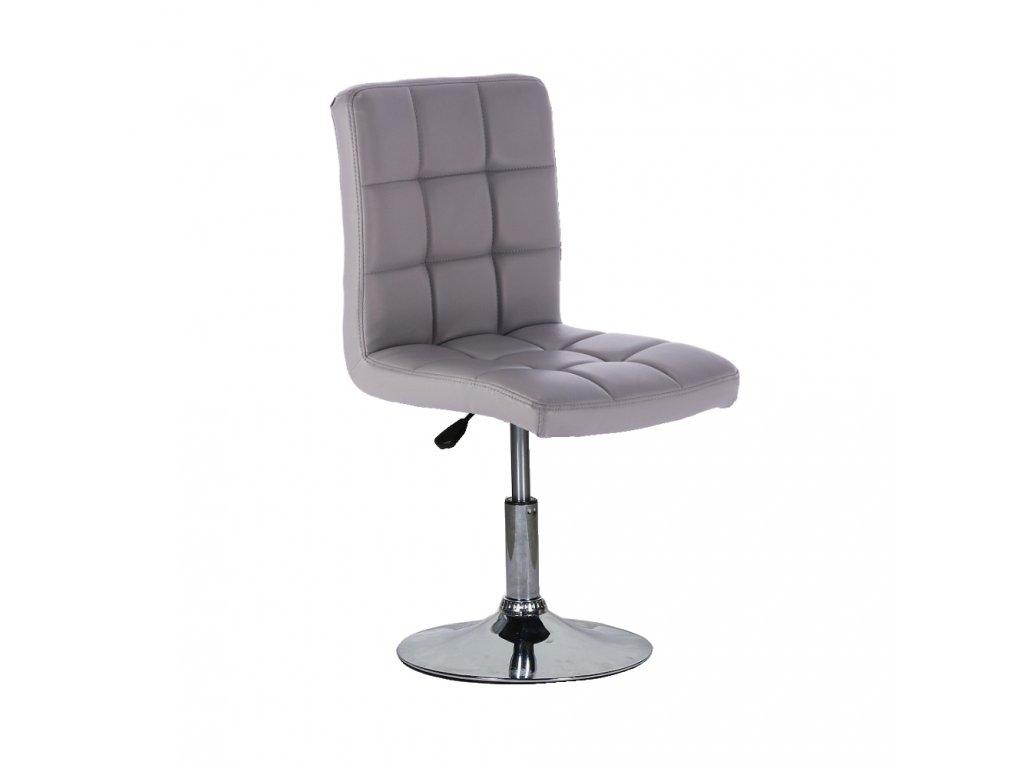 Židle na kulaté podstavě TOLEDO - šedá