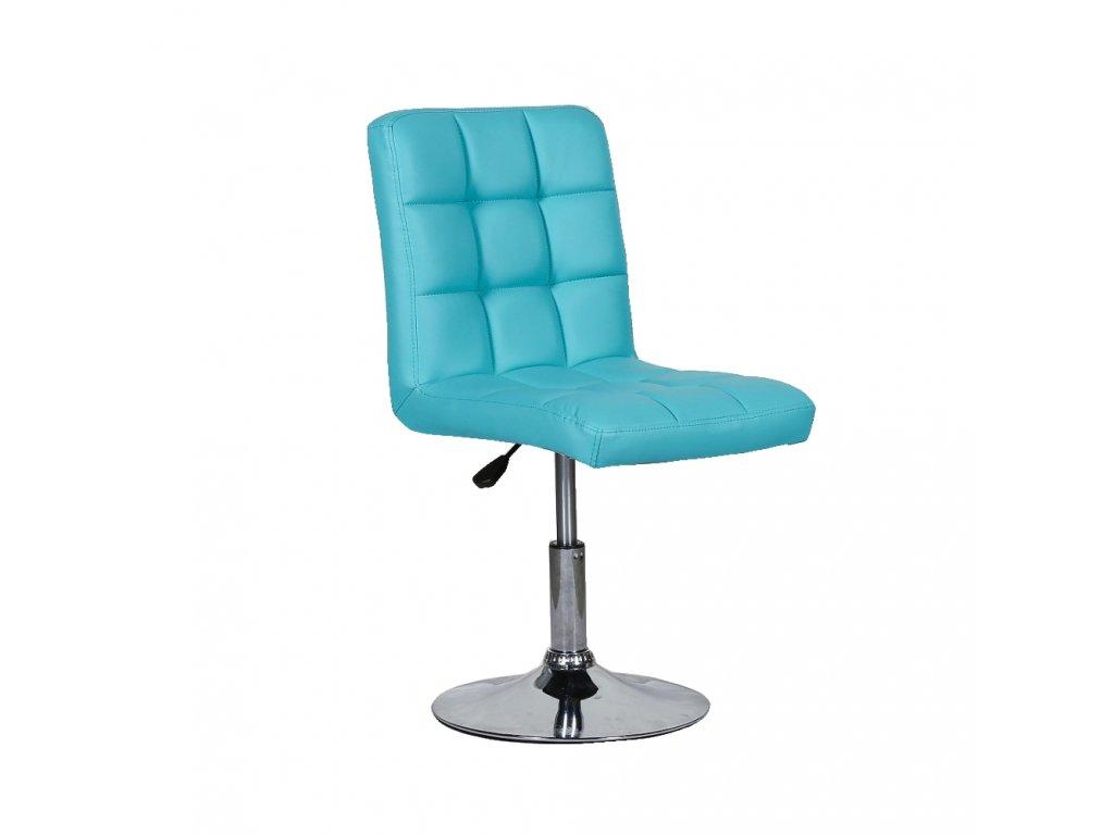 Židle na kulaté podstavě TOLEDO - tyrkysová