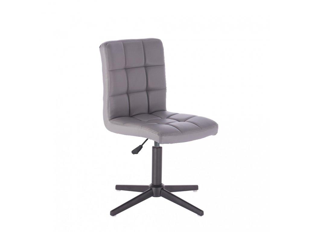 Židle TOLEDO na křížové podstavě - šedá
