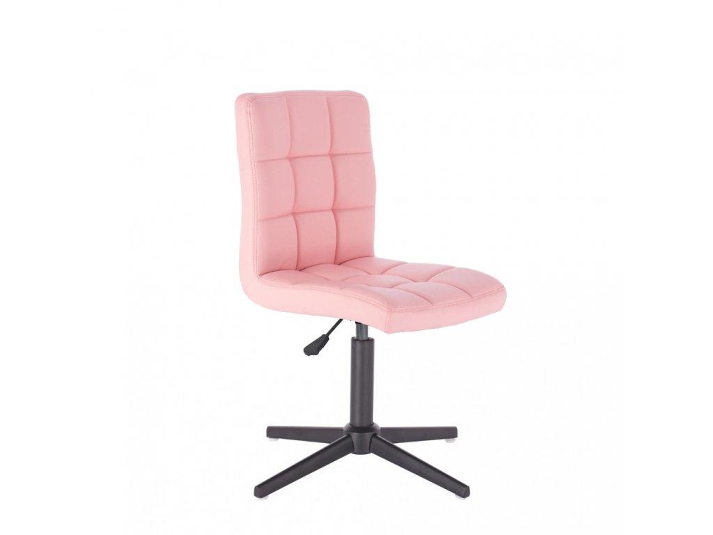 Židle TOLEDO na křížové podstavě - růžová