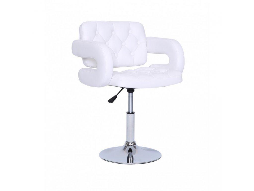 Židle Stockholm na kulaté podstavě - bílá