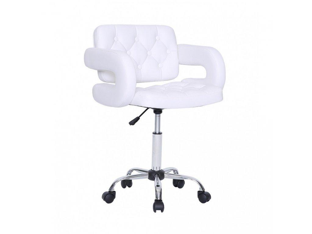 Židle Stockholm na kolečkách - bílá