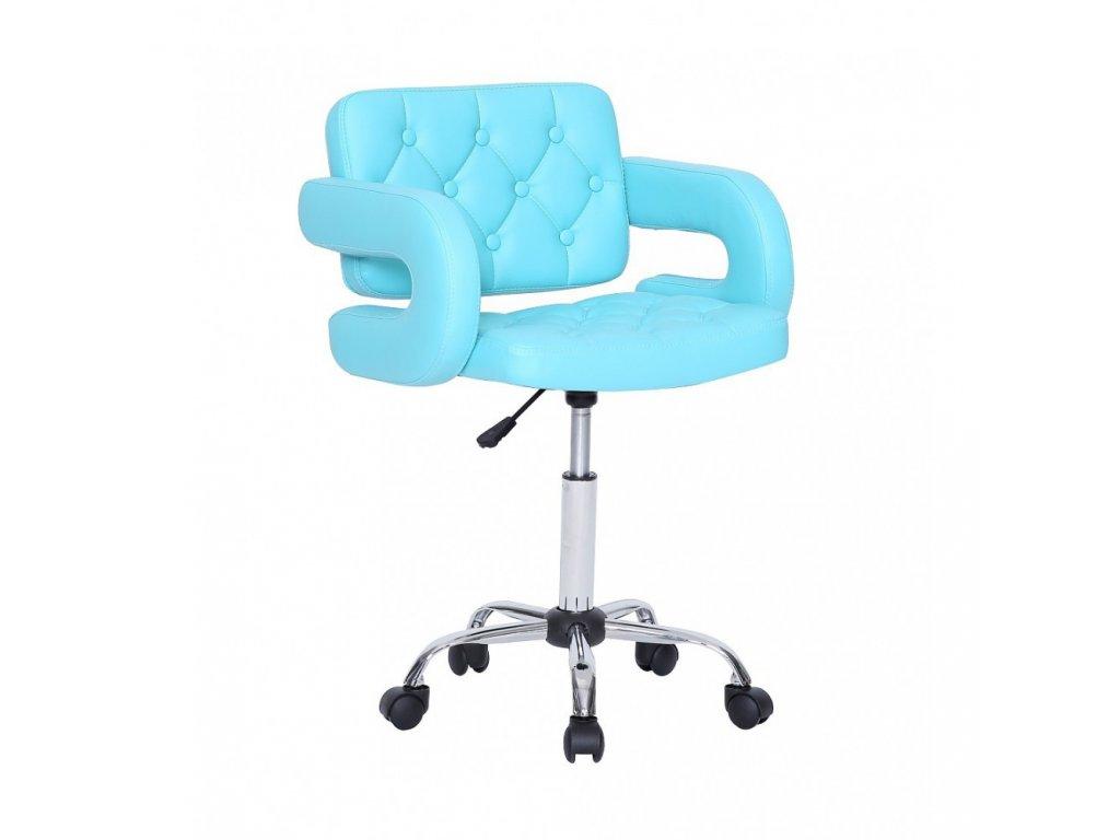 Židle Stockholm na kolečkách - tyrkysová