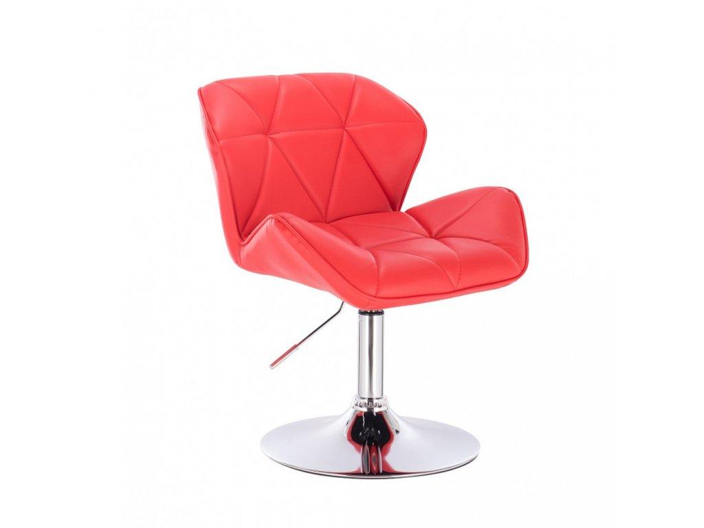 Kosmetická židle MILANO kulaté podstavě - červená