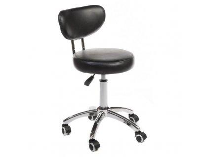 Pracovní židle / taburet BARI - černá