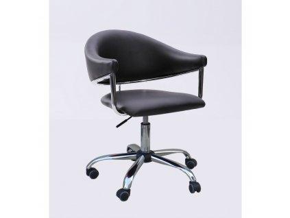 Kosmetická židle BERLIN na kolečkách - černá