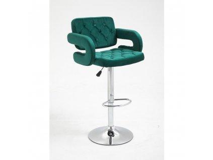 Barová židle Stockholm - zelený velur