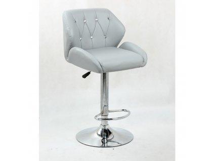 Barová židle PALERMO - šedá