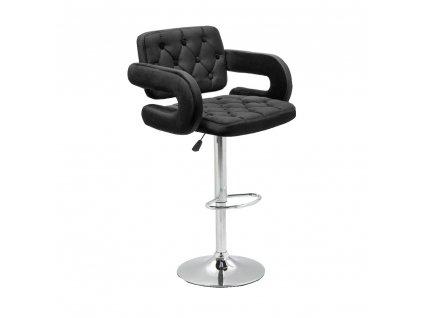 Barová židle Stockholm - černý velur