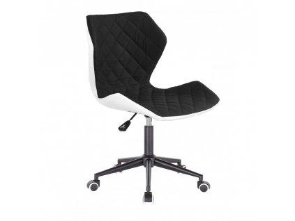 Židle MATRIX na černé kolečkové podstavě - černá