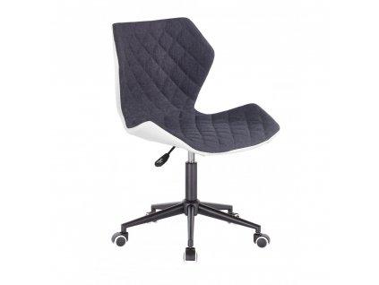 Židle MATRIX na černé kolečkové podstavě - šedá