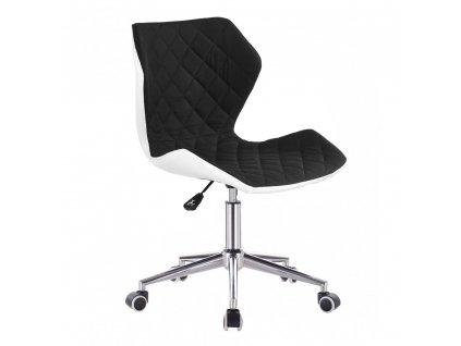 Židle MATRIX na stříbrné kolečkové podstavě - černá