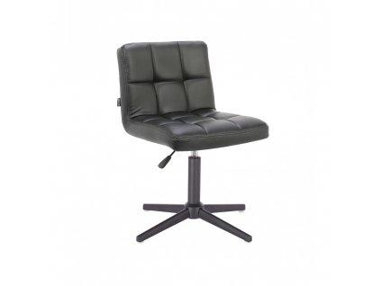 Židle ODESA na černé křížové podstavě - černá