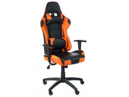Herní židle FIGHTER - oranžová