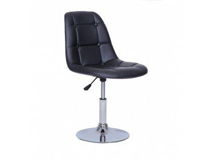Židle na kulaté podstavě LAGOS - černá