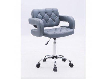 Židle Stockholm na kolečkách - šedá