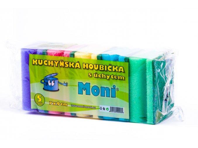 080 Kuchyňská houbička s úchytem 5 ks Moni nadobi