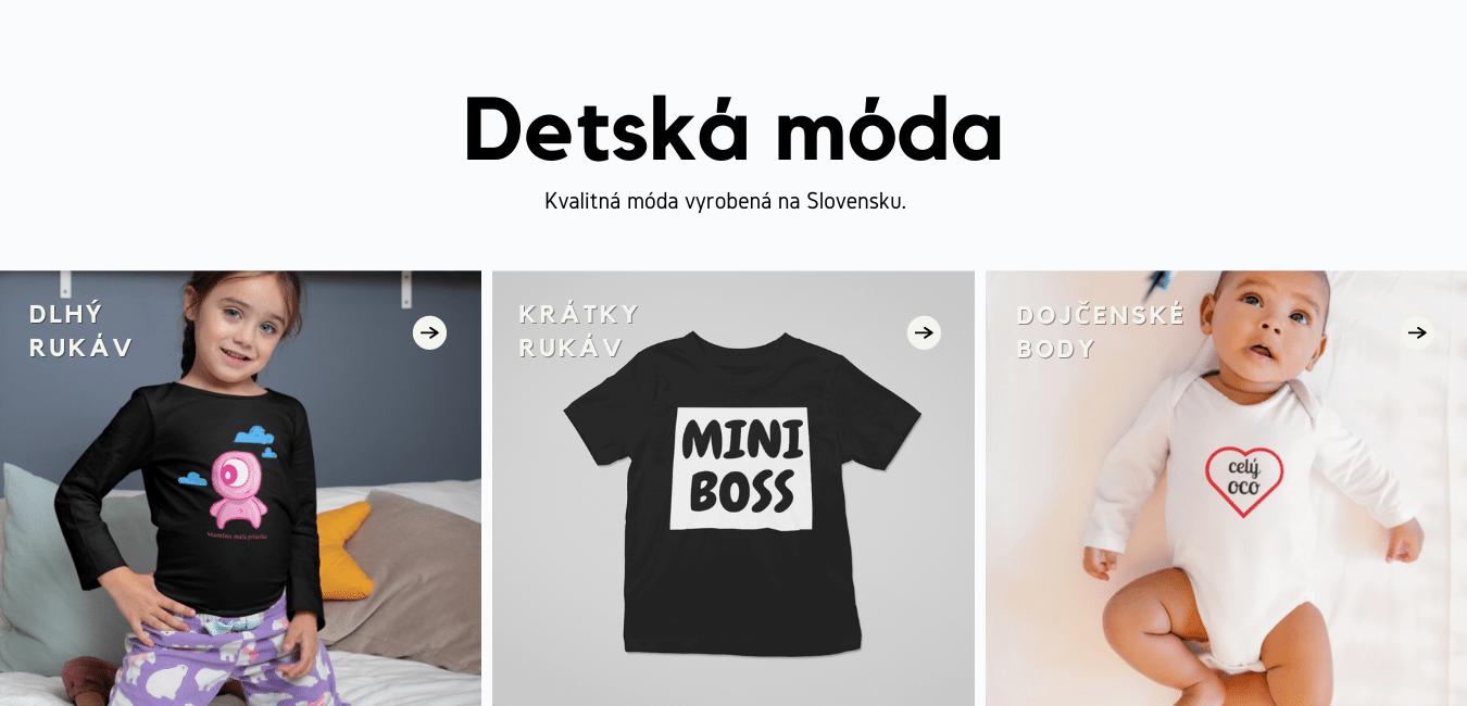 Detské oblečenie na Superpotlac.sk