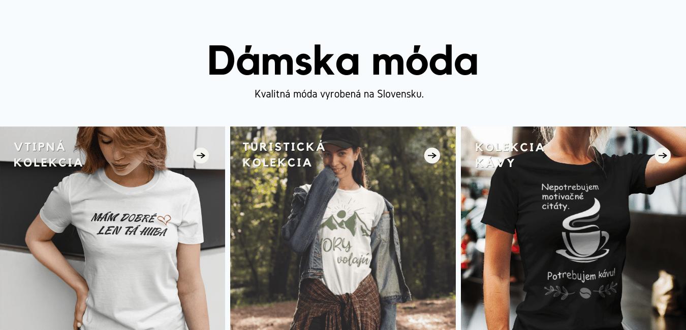 Dámske tričká na Superpotlac.sk