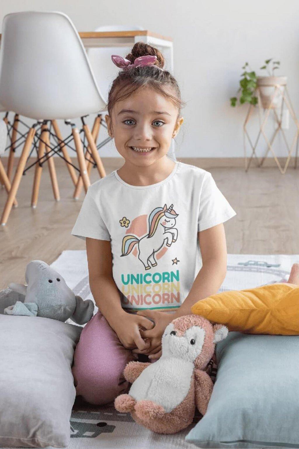 Dievčenské tričko UNICORN