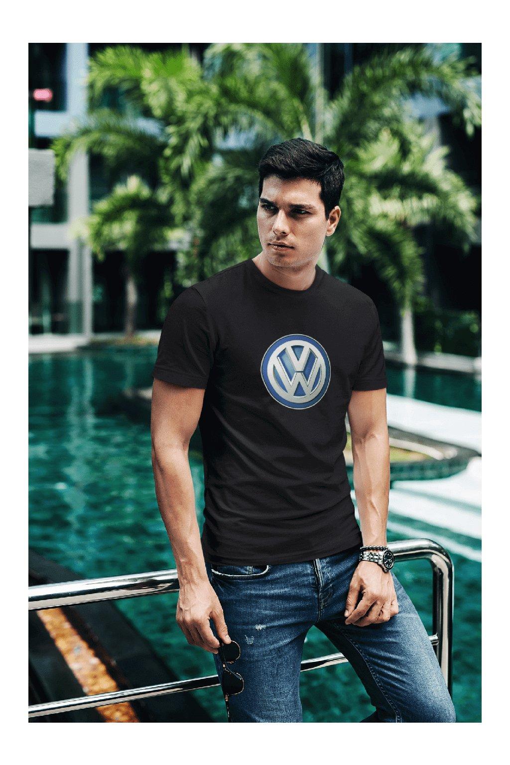 t shirt mockup of a fashionable man posing by a pool 430 el (24)