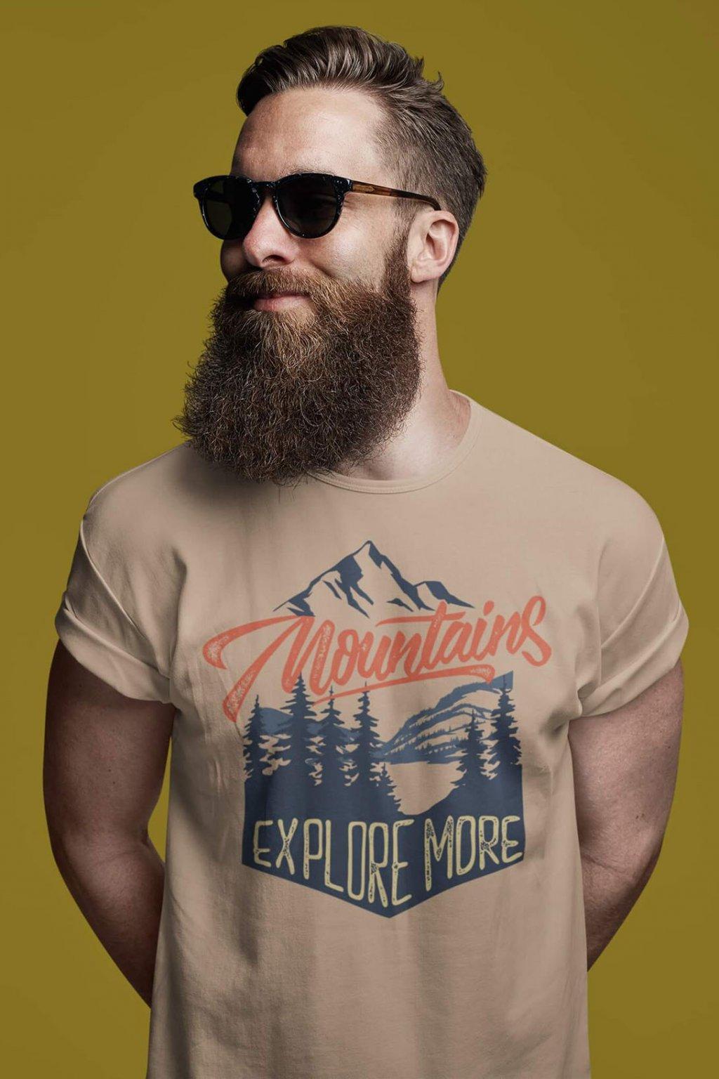 Pánske outdoorové tričko Mountains