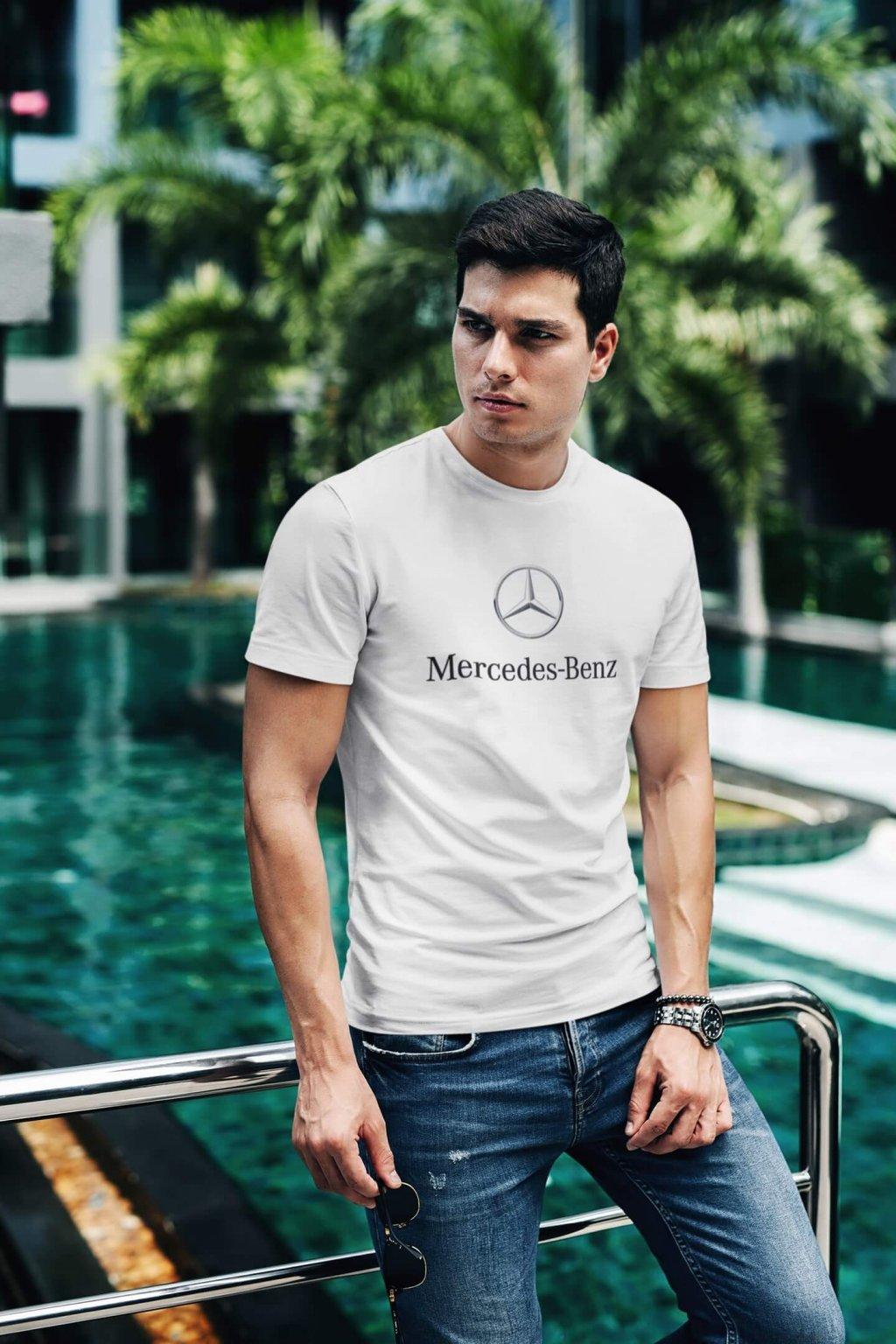 Tričko s logom auta Mercedes Benz
