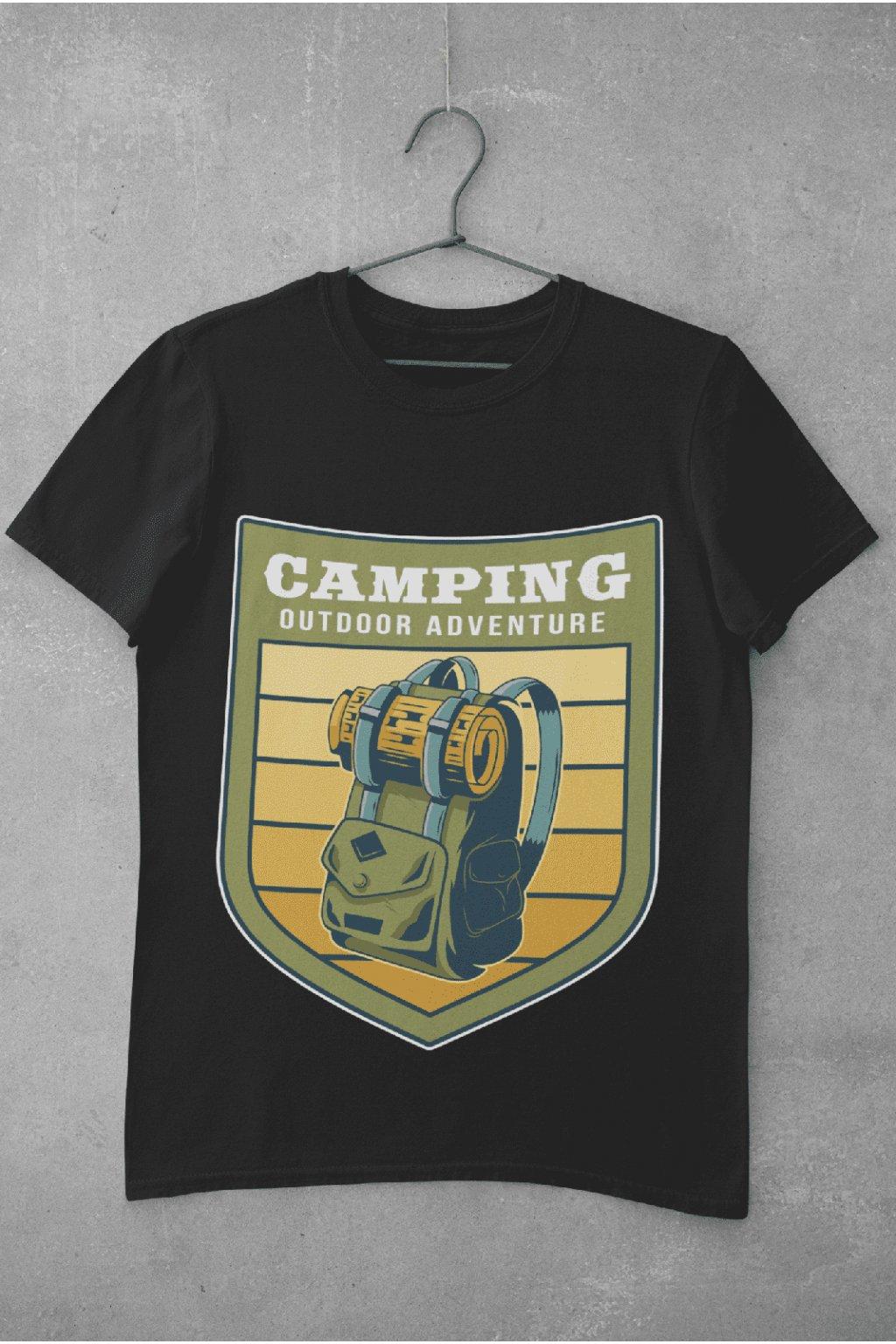 Pánske outdoorové tričko vintage