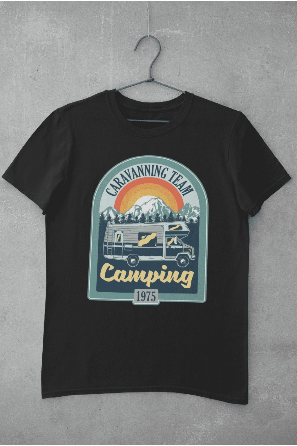 Pánske outdoorové tričko Camping 1975