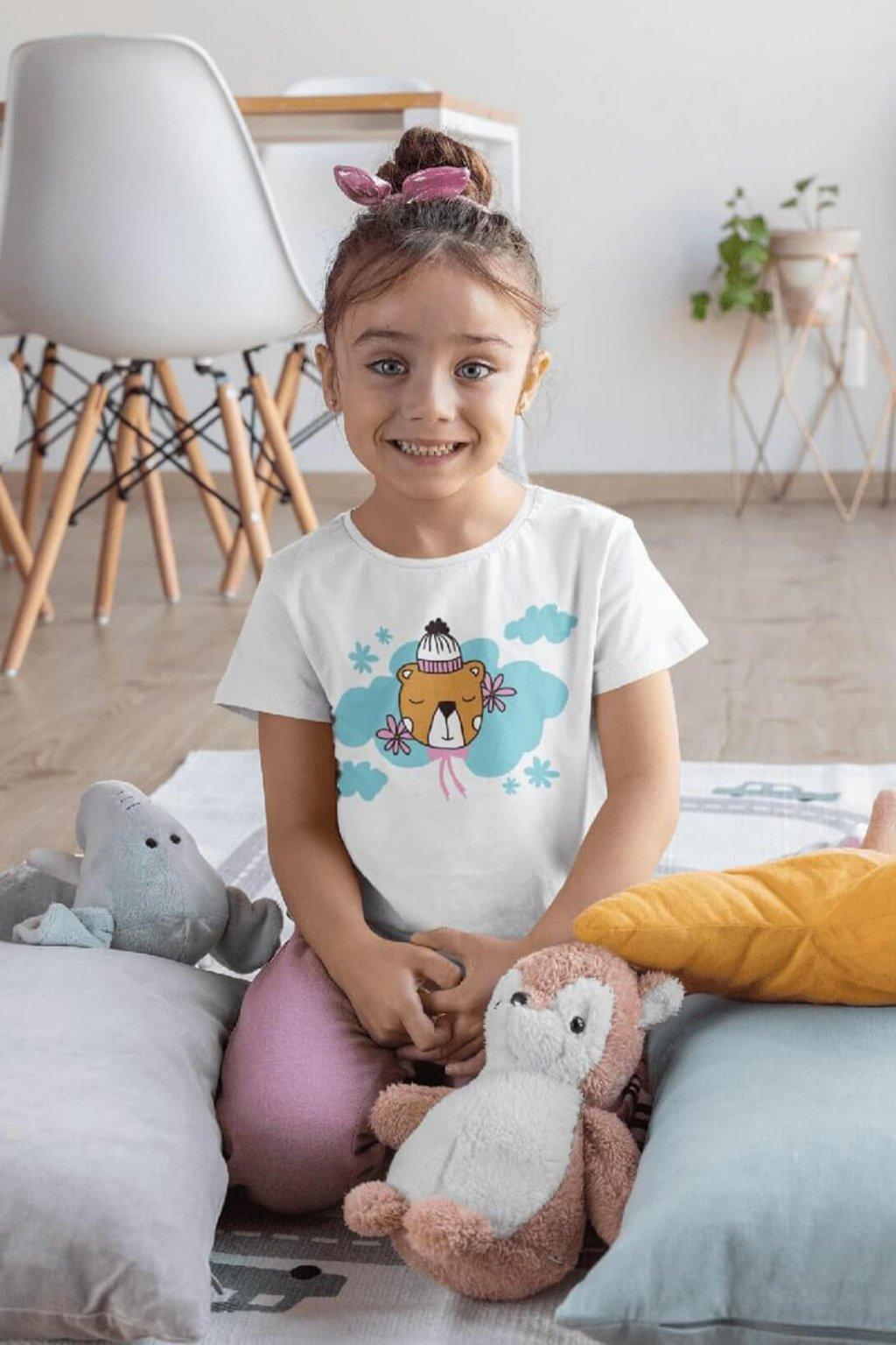 Dievčenské tričko Spiaci medvedík