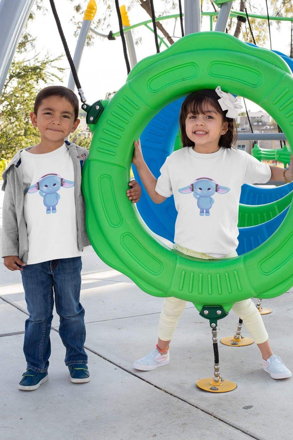 Detské tričko Zajac so slúchadlami