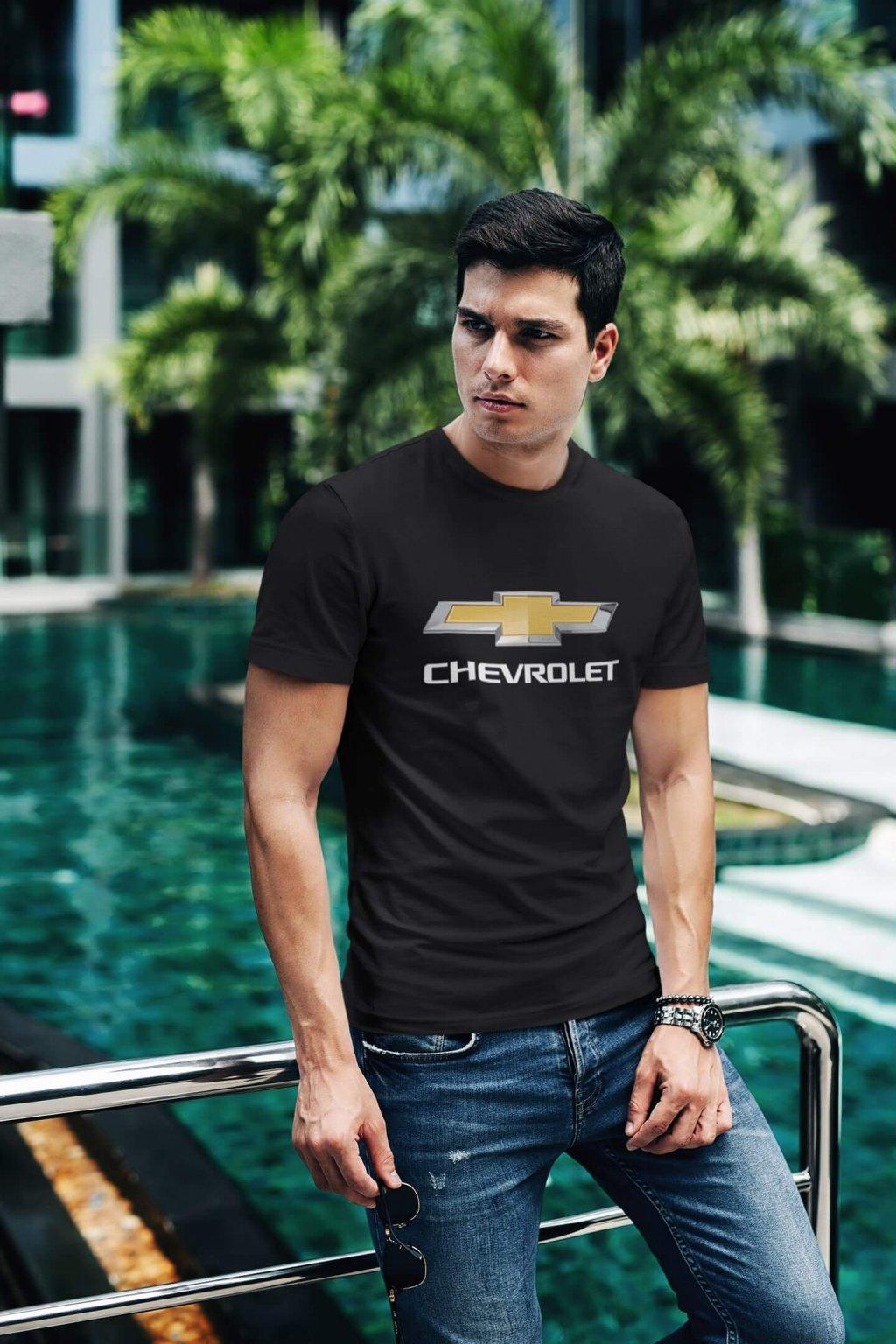 Tričko s logom auta Chevrolet