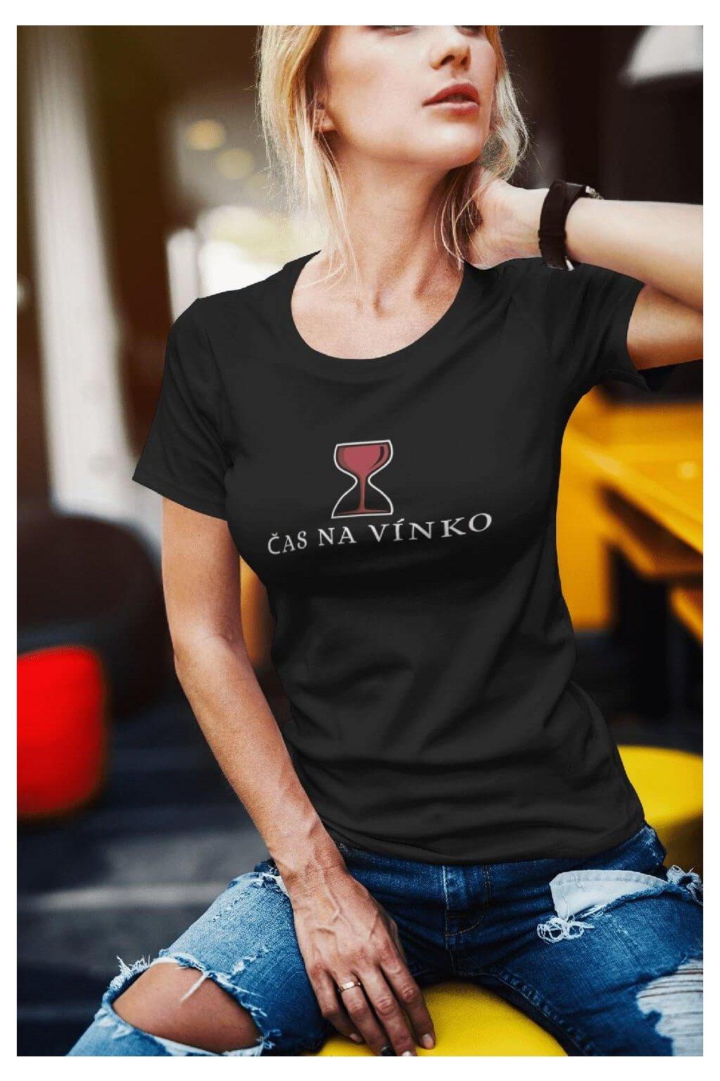 Dámske tričko Čas na vínko