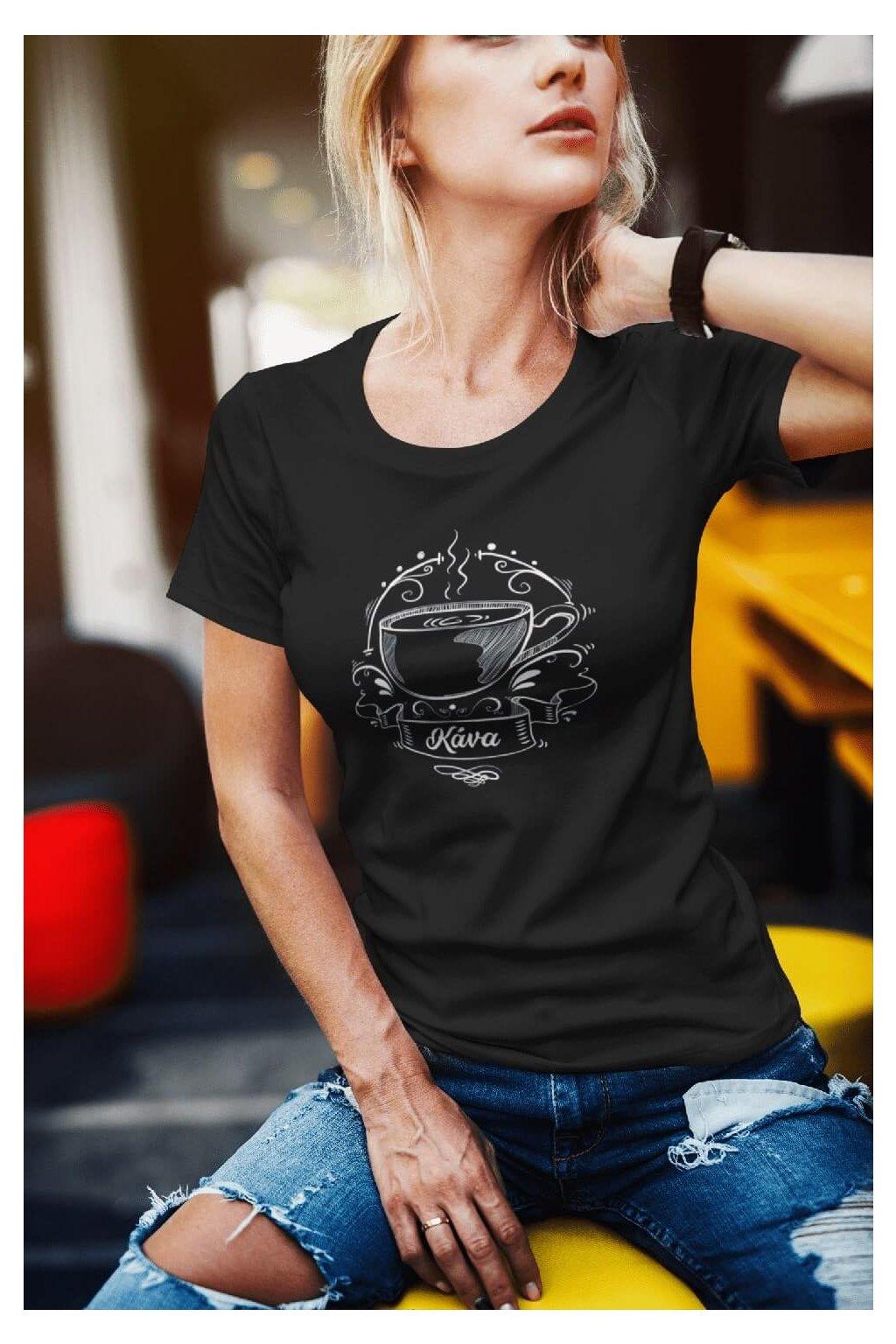 Dámske tričko Kávička