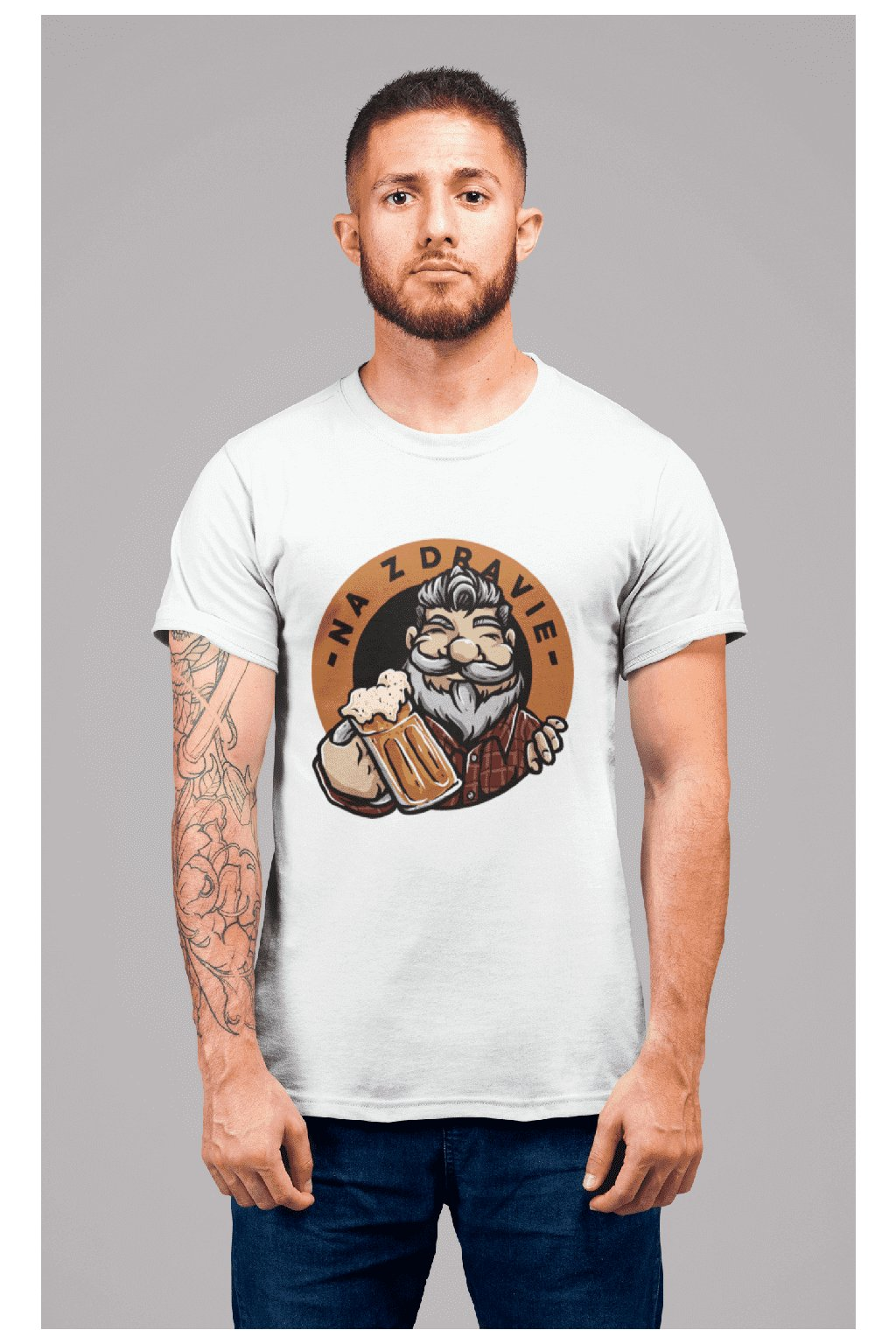 t shirt mockup of a redhead man with tattoos standing in a studio 22340 (6)