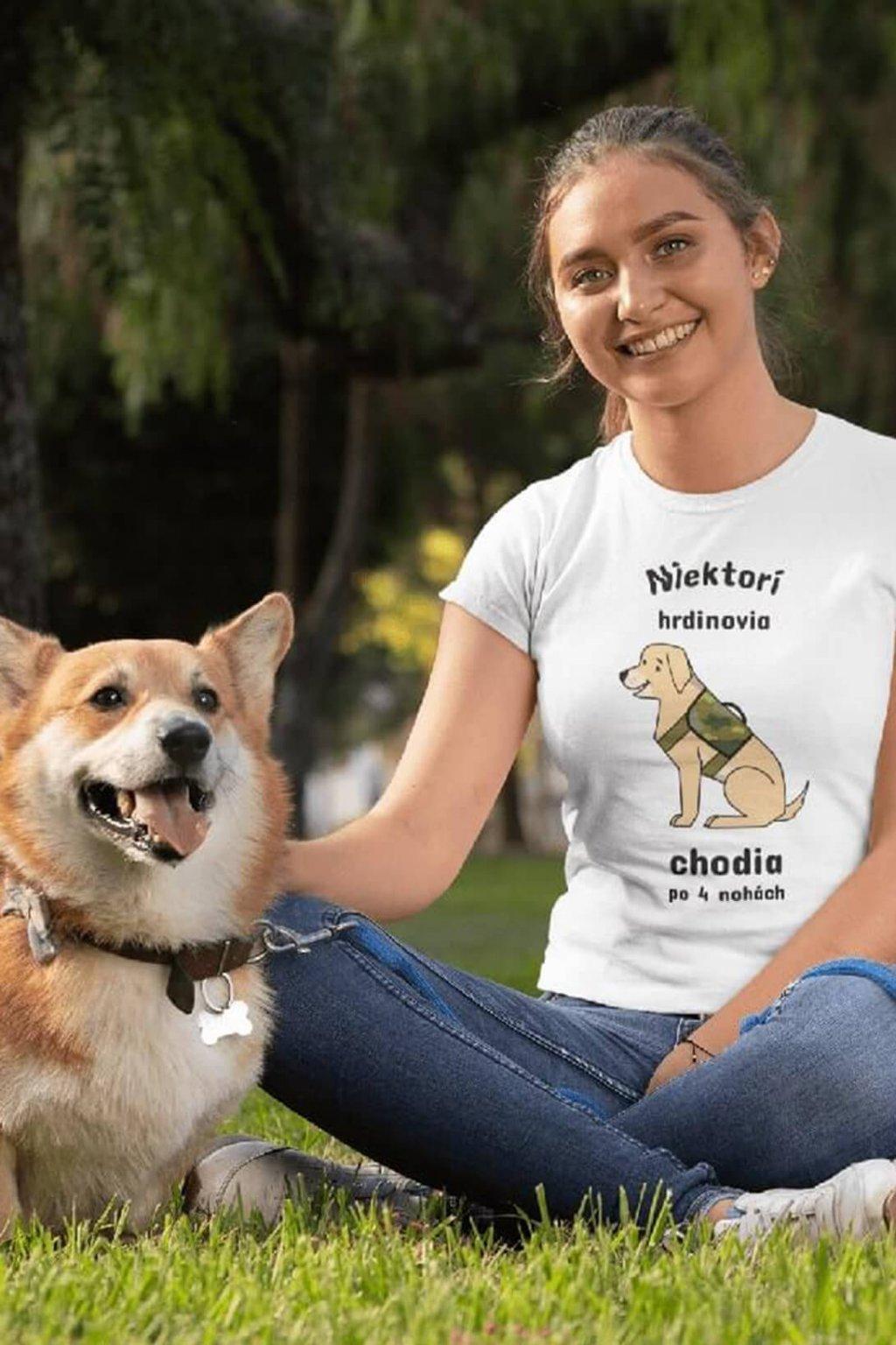 Dámske tričko Pes hrdina